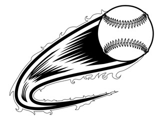 Baseball ball with an effect icon. Vector illustration design