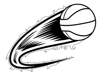 Basketball ball with an effect icon. Vector illustration design