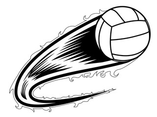 Volleyball ball with an effect icon. Vector illustration design