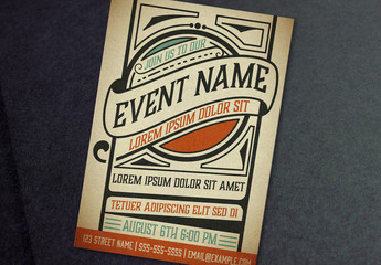Event Poster Layout with Ornamental Elements