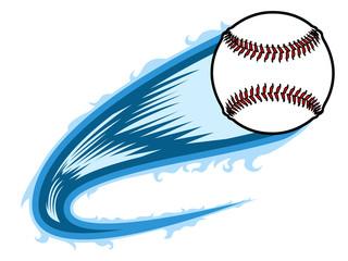 Baseball ball with an effect. Vector illustration design