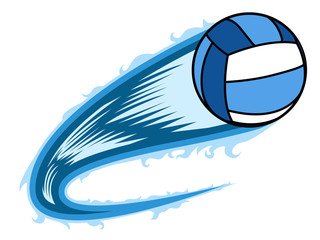 Volleyball ball with an effect. Vector illustration design