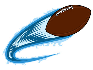 Football ball with an effect. Vector illustration design