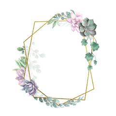 Watercolor Geometric Frame