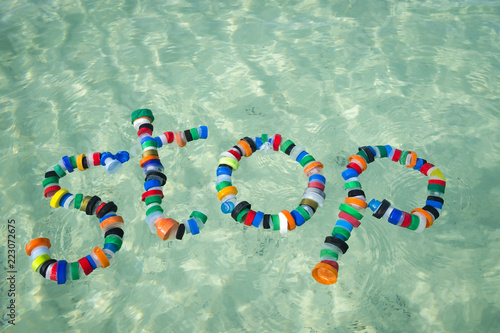 Image result for plastic in the sea bottle tops