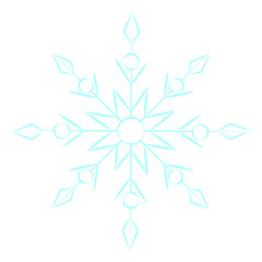cute blue snowflake