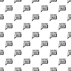 Bubble speech sale black friday icon. Simple illustration of bubble speech sale black friday vector icon for web