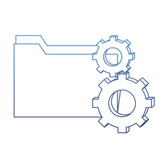 degraded outline folder file and industry gears process