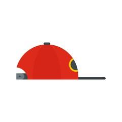 Rap cap icon. Flat illustration of rap cap vector icon for web design