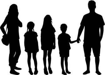 Family of silhouettes.