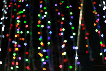 Blurred of colorful bokeh light background.