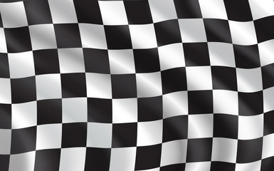 checkered flag, car racing sport