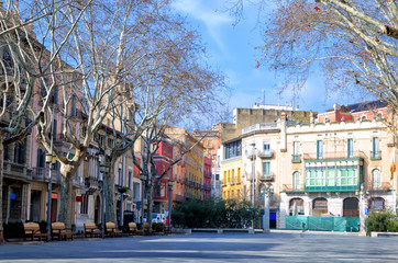 Figueres Plaza in Spain
