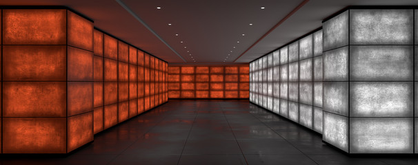 Grungy light walls 3d rendering
