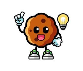 Cookie get the idea mascot cartoon illustration