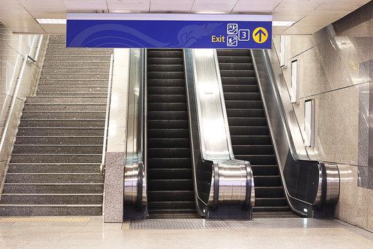 escalators in public building