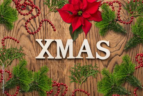 weihnachtlich Dekoration mit Nachricht \