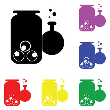 Element of whitch poison in multi colored icons. Premium quality graphic design icon. Simple icon for websites, web design, mobile app, info graphics