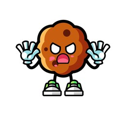 Cookie zombie mascot cartoon illustration