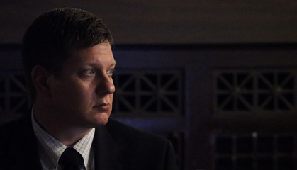 Jason Van Dyke listens as lights are turned off for a video clip viewing during the trial for the shooting death of Laquan McDonald at the Leighton Criminal Court Building in Chicago