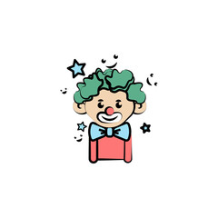 clown colored icon. Element of birthday icon for mobile concept and web apps. Color clown icon can be used for web and mobile