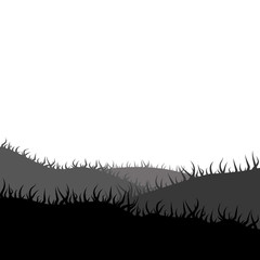 Law, meadow, grass-plot Silhouette