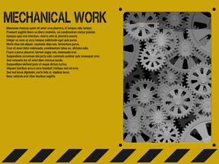 Yellow mechanical background
