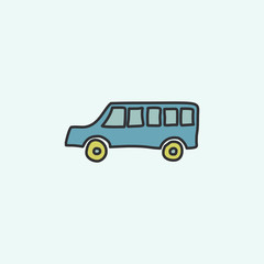 school bus sketch icon. Element of education icon for mobile concept and web apps. Field outline school bus sketch icon can be used for web and mobile