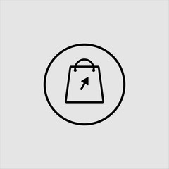 shopping icon logo design