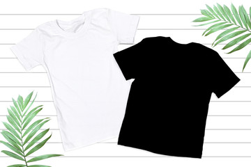 Black & White Unisex Tshirt Mockup