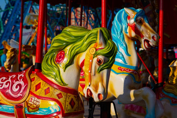 VIEW OF THE HORSE AT THE CAROUSEL