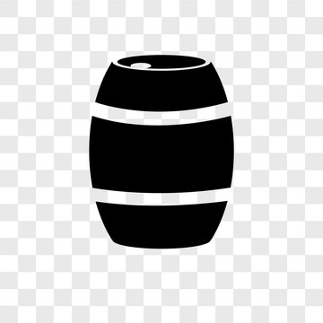 barrel icons isolated on transparent background. Modern and editable barrel icon. Simple icon vector illustration.