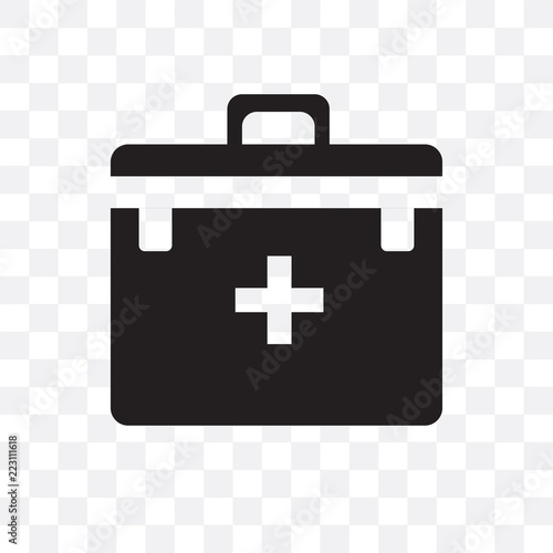 first aid kit icon isolated on transparent background  Simple and