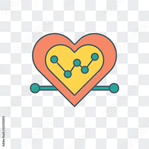 heart icon isolated on transparent background  Modern and