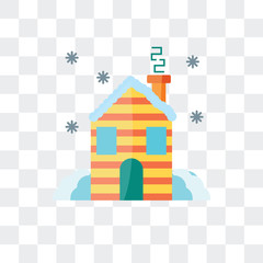 hut icon isolated on transparent background. Modern and editable hut icon. Simple icons vector illustration.