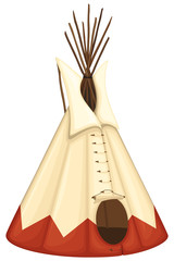Vector illustration of a Native American tipi (teepee).