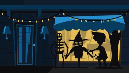 monster halloween vector illustration