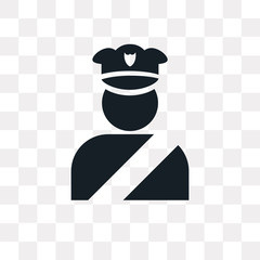 Policeman figure vector icon isolated on transparent background, Policeman figure logo design