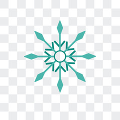 snowflake icon isolated on transparent background. Modern and editable snowflake icon. Simple icons vector illustration.