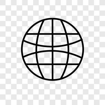 Internet vector icon isolated on transparent background, Internet logo design
