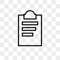 note icon isolated on transparent background. Modern and editable note icon. Simple icons vector illustration.
