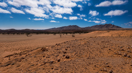 Sossusvlei dunes inside the Namib-Naukluft Park in Namibia