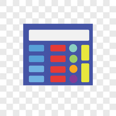 calculator icons isolated on transparent background. Modern and editable calculator icon. Simple icon vector illustration.
