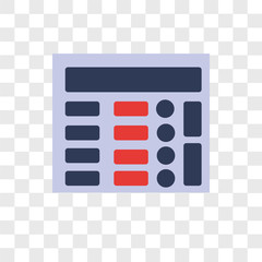 Adding machine vector icon isolated on transparent background, Adding machine logo design