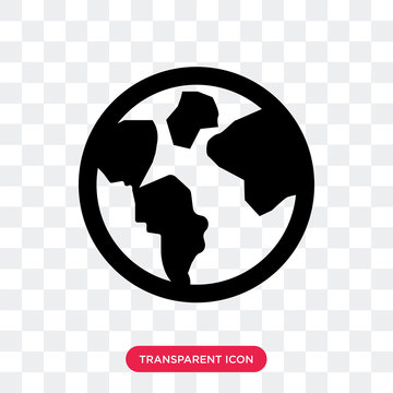 Planet earth vector icon isolated on transparent background, Planet earth logo design