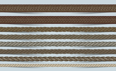vector realistic rope brush