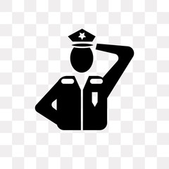 policeman icon on transparent background. Modern icons vector illustration. Trendy policeman icons