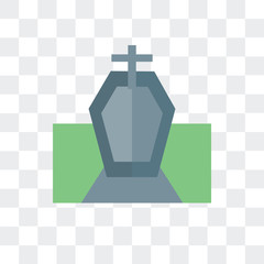 Funeral vector icon isolated on transparent background, Funeral logo design