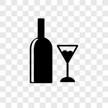 Wine vector icon isolated on transparent background, Wine logo design