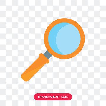 Loupe vector icon isolated on transparent background, Loupe logo design